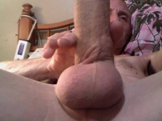 playing with my hard cock and looking at zoig. loving it