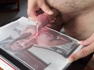 Love the way albert999hall's cum flows out of his gorgeous cock. Cover me, dear! These are the gifts that Mrs. Shutterbug58 prefers to receive from friends. Hope to see more!