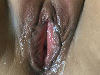 Nice and moistu did a little fingering to get her ready