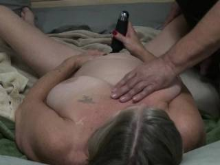 This is 7th of 7 part video Time for me to cum so I used my vibrating wand on my clit while he fucked me with a big glass dildo and squeezed my tits and pulled on my nipples. Did you enjoy this video and did my orgasm make you cum as well as I did?