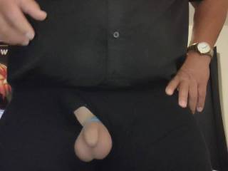 Playing with my little dick in slow motion