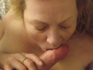 Us getting kinky! Her sucking my cock good!