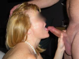 Friends wife giving me a blowjob while he was fucking my wife!