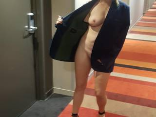Having some fun at the hotel...