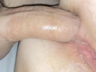 Love feeling his hard cock slip in and out of my ass