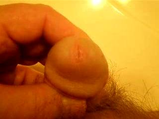 I just LOVE to see a cock cum without a hard on and small - that is so cool!!!
