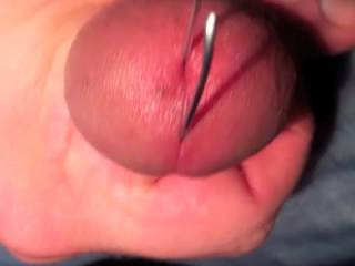 seeing your cum ooze out of there while you are doing it, would be a finishing touch!