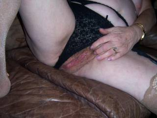 I like to have her suck my cock stiff and feel me get my throbing knob deep in her to wriggle and cum on then let her suck and wank the spunk from my balls to cover her mature tits