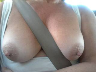 Miss you, gorgeous! Your beautiful breasts needs something else other than a safety belt between them ;)