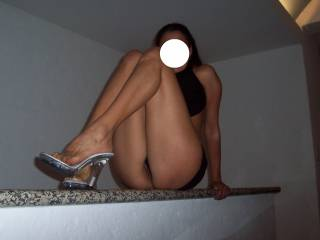Rest those lovely legs on my shoulders so I can lick the juices from that sweet pussy
