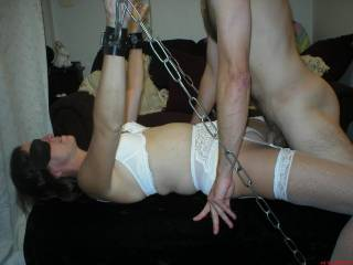 Fucking the wife while shes tied...Is she still fuckable at 54??