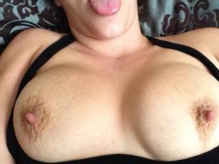 Loving those big, stiff nipples ... I'm ready to shoot big creamy load all over ... then massage it all in ...
