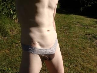panty boy shows his little bulge