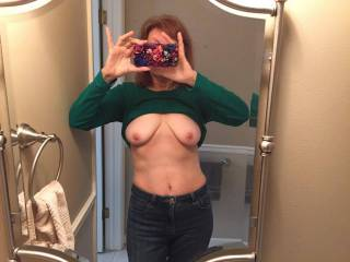 Would love to c those big tits  bounce as u rode my thick cock