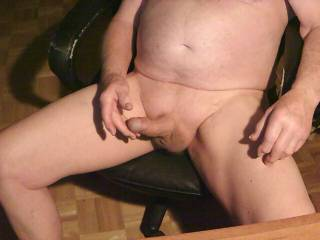 Just stroking myself, anyome want to help?