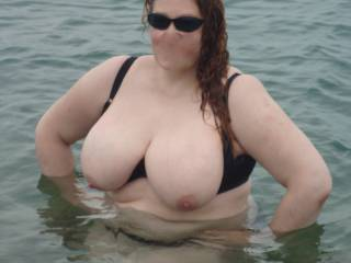 Ex-hubby loved me swimming with the girls out!