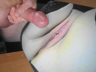 jerking off my throbbing lubed cock and ready to cum all over campingcunt's tasty pussy lips while watching her tribute video she made with my cock!