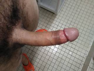 About to shower before I go pipe my GF down.