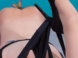 Just a little glimpse of bum....Hope you like it? x