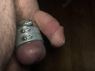 Just got my 3rd clamp and man it feels sooooooooo good and my cock sitting over the top as it starts to get hard as a rock after this pic it was so hard and I have no one to share it with so hit me up lady's if you what to ride this cock