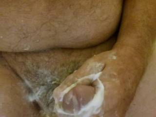 Was in shower and I was horny, so just took care of the problem.