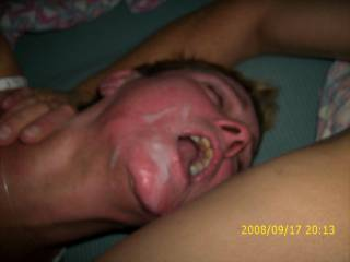 i make her horney while my cum is in her face