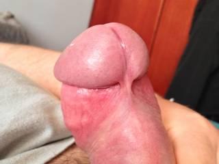 pulled back foreskin