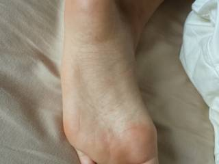 ...and my cock is more than ready for your foot! Just woken up and lying naked in bed with rock hard morning wood...stroking my cock and staring at your amazing feet wishing I could feel them touch me and make me cum all over them...Stunning!