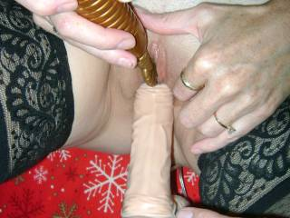 I love seeing a woman play with her toys, and helping her with them.