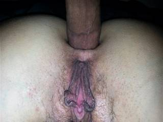 spreading that hot tight ass with my big cock