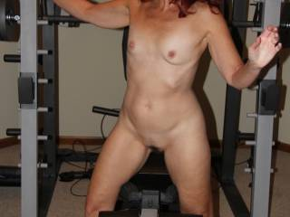 This idea just CAME to me, as I was CUMMING from viewing all the cocks and pussy here. These were taken at a customer\'s house, while we house sat for a week. I figured I could get a workout, while you worked out watching me. CUM and join me sometime.