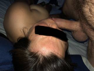 She loves sucking his cock