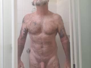 Hot naked shower time