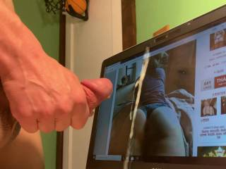 For the beautiful BlondePAWG. What an amazing ass. I was thinking about fucking and pulling out and cumming all over.