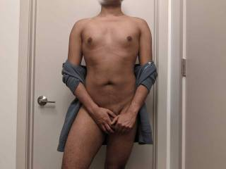 Just me in the bathroom!