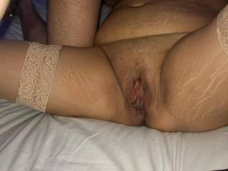 She spreads her legs wide for him and begs to get her pussy licked
