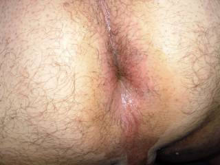Hubby\'s sexy asshole! I milked his prostate.