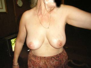 mmmm thats beautiful. And Pauline's tits are fantastic. I'd love to cum around to in her hot mouth, and see her clean up any spillage   xoxoxo peter