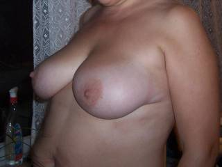 Really nice titties. They look like they need some cum on them.