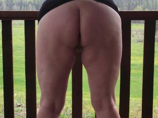 I'd like to put a chair behind you and just sit and look at your naked ass!