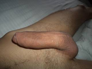 Wow! That is a gorgeous cock....I could play with it, lick, suck and swallow it...all day long.  You would walk around the house without any pants on...I'd want to see it swing and dangle as you walked around.  I'd be touching it a lot.  K