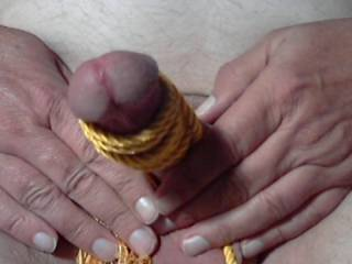 Love my cock and balls tied up!