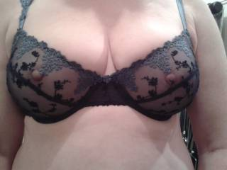 Great see through bra to start with, please may I slide my cock inside your cups and cum in them?  Would be great to see my semen shoot out through the lace