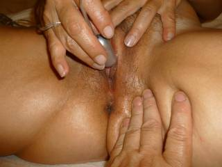 Mmmmmm...lucky hubby! I would love to lick and suck your hot wet pussy!