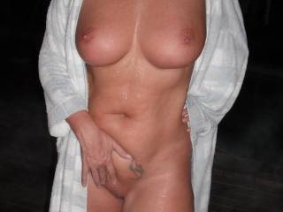 body is amazing and the tits are fantastic! where do they all come from!