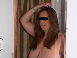 """Wife getting ready for the swingers party on the weekend..we had a """"fucking"""" good time"""