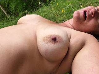 Myt tits just after orgasm