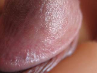 I love to use sex toys to excite my cock.  Cyberskin dildos are one of my favs.  See how this cyber dildo has got the head of my cock so big?