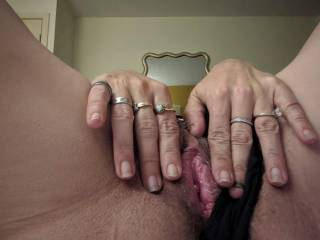 I love to send my hubby photos of me masturbating for him. ummmm