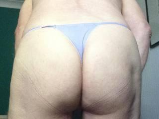 my bum in a thong